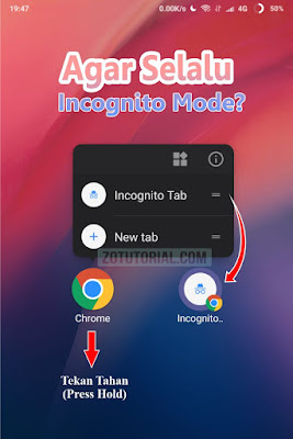 Agar Browser Google Chrome Selalu Incognito Mode di Android