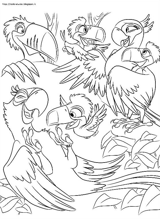 free rio the movie coloring pages | agosto 2013