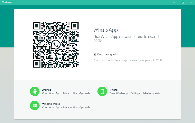 Membuka WhatsApp di Laptop
