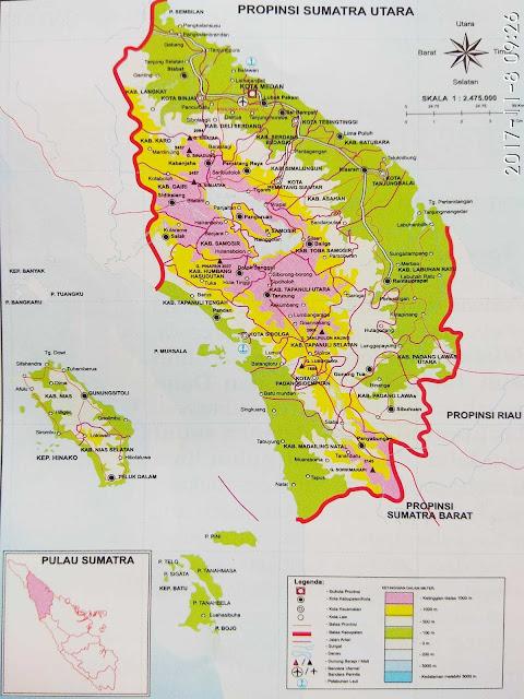 Gambar peta Sumatra Utara