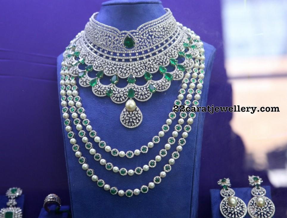 Indian Diamond Wedding Jewellery Sets - Jewellery Designs