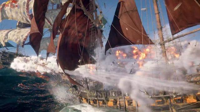 Ubisoft E3 2018 conference Skull & Bones cannon balls ship combat warfare