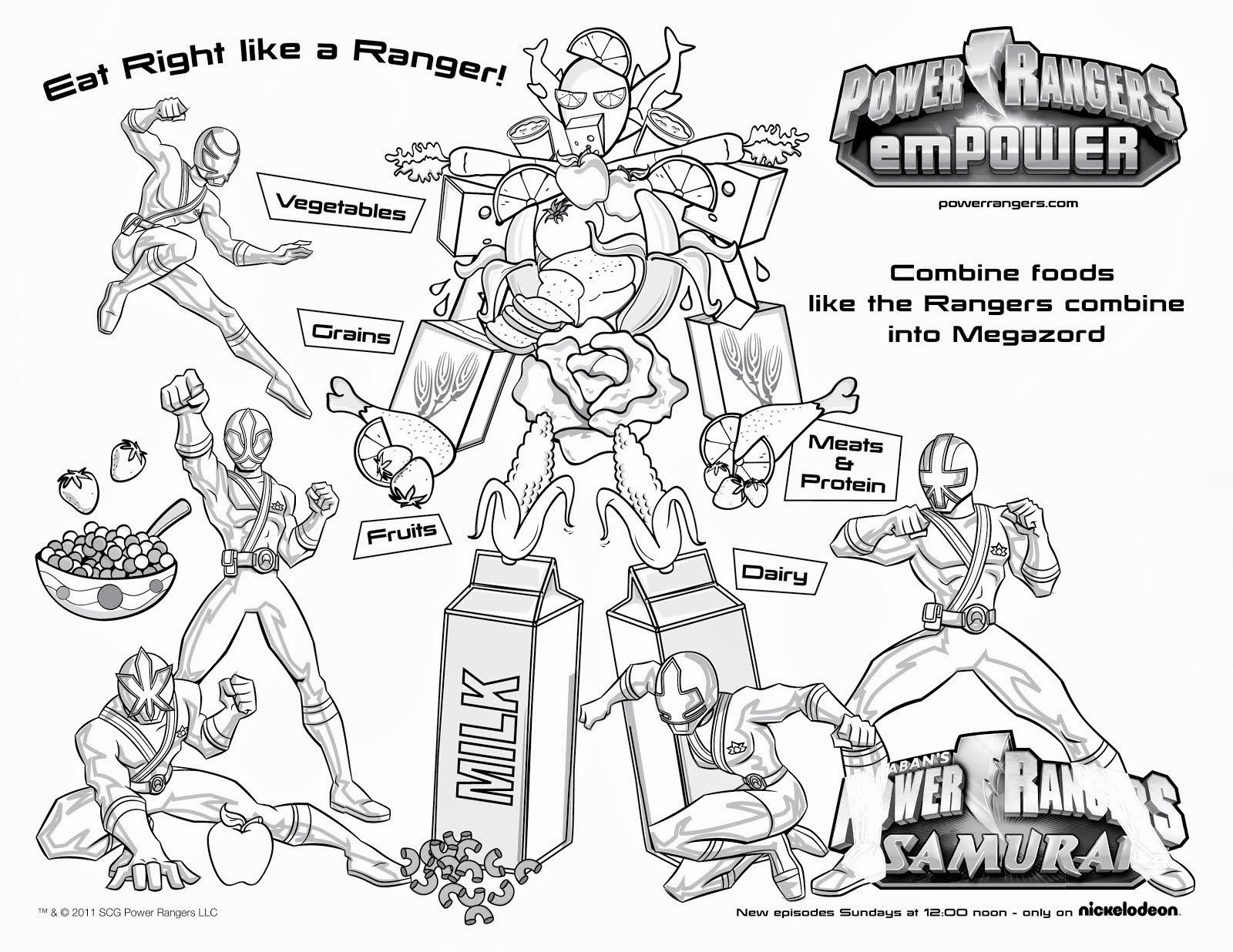 Power Rangers Worksheets