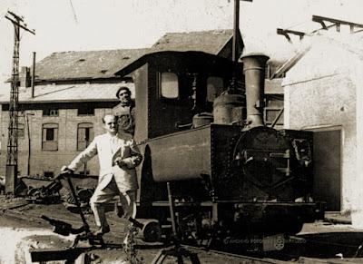Locomotora Coulliet en Barruelo de Santullán.