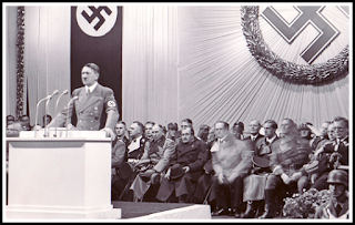 Hitler at the time of giving speech