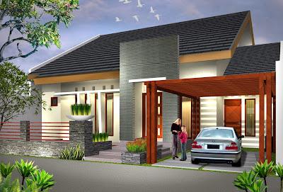 Desain Gambar Rumah Memanjang Samping