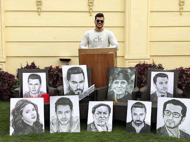 مصطفى نشأت رسام المشاهير في يوم ميلادة غير عادي