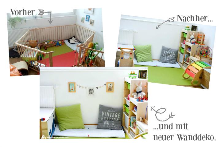 diy wand deko f r die spielecke werbung bissen f rs. Black Bedroom Furniture Sets. Home Design Ideas
