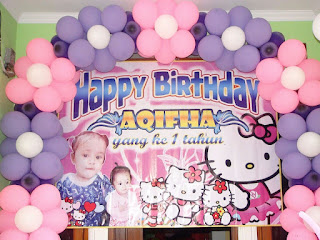Dekorasi balon ulang tahun backdrop