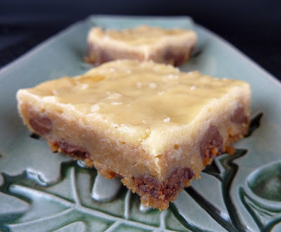 Coffee Cookie Bars topped with Sweetened Condensed Milk Topping