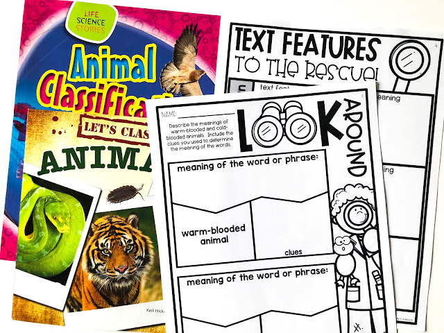 Determine the meaning of unknown words and phrases strategies, posters, and activities.
