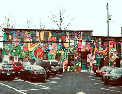 Street Art Wall Mural at Neato Burrito in New Cumberland, Pennsylvania