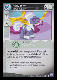 My Little Pony Hoity Toity, Vogue Authority Premiere CCG Card