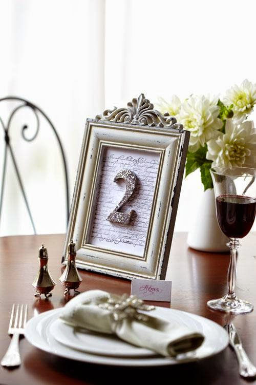 Personalized Wedding Table Numbers