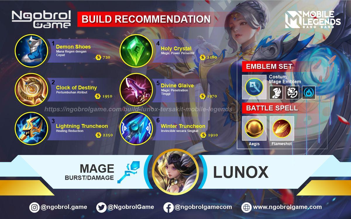 Build Lunox Tersakit 2021 Mobile Legends