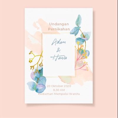 desain undangan pernikahan unik dan lucu