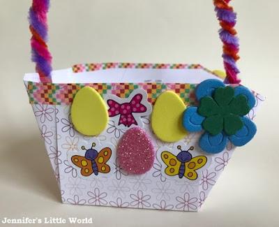 Simple patterned paper Easter basket