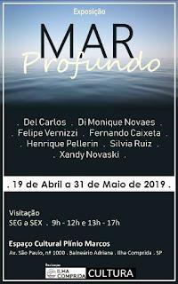 """Ilha Comprida convida o público para a exposição """"Mar Profundo """""""