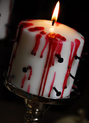 macabre candles diy halloween craft