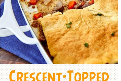 Crescent-Topped Beef Pot Pie