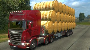 Old Rolled Hay trailer mod updated