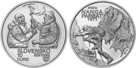 Slovakia 10 euro 2021 - Slovak climbers