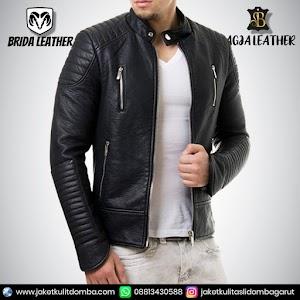 Jual Jaket Kulit Asli Garut Pria Domba Original Brida Leather B109 | WA 08813430588