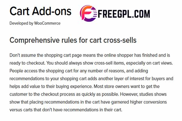 WooCommerce Cart Add-ons Free Download