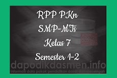 RPP PKn Kelas 7 SMP MTs Semester 1 Revisi Terbaru
