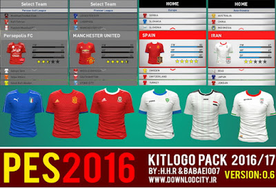 PES2016 KitLogo Pack 2016-2017 Version 06 By Downlodcity.ir