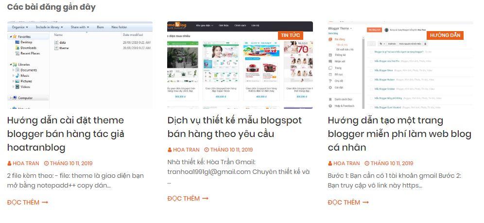 Tổng hợp một số trang cung cấp mẫu blogger tin tức miễn phí đẹp
