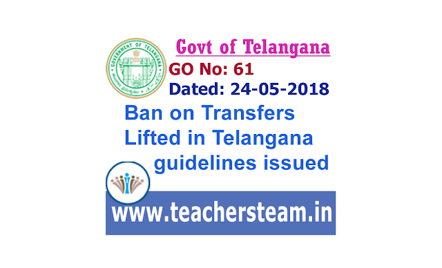 Ban lifted on transfers in Telangana