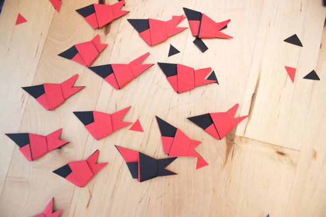 How to make paper strip birds- fun and easy spring folding craft to make with kids