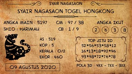 Nagasaon HK Sabtu Minggu 09 Agustus 2020