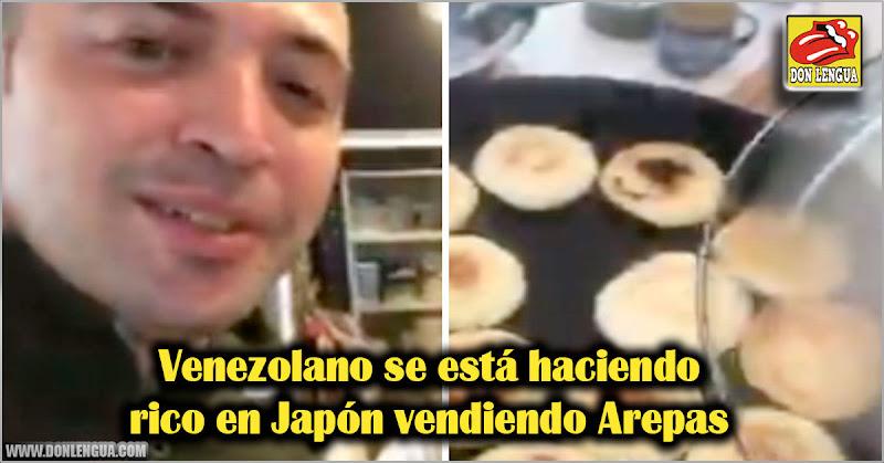 Venezolano se está haciendo rico en Japón vendiendo Arepas