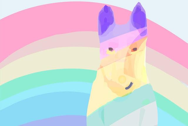 el arcoíris y el perro