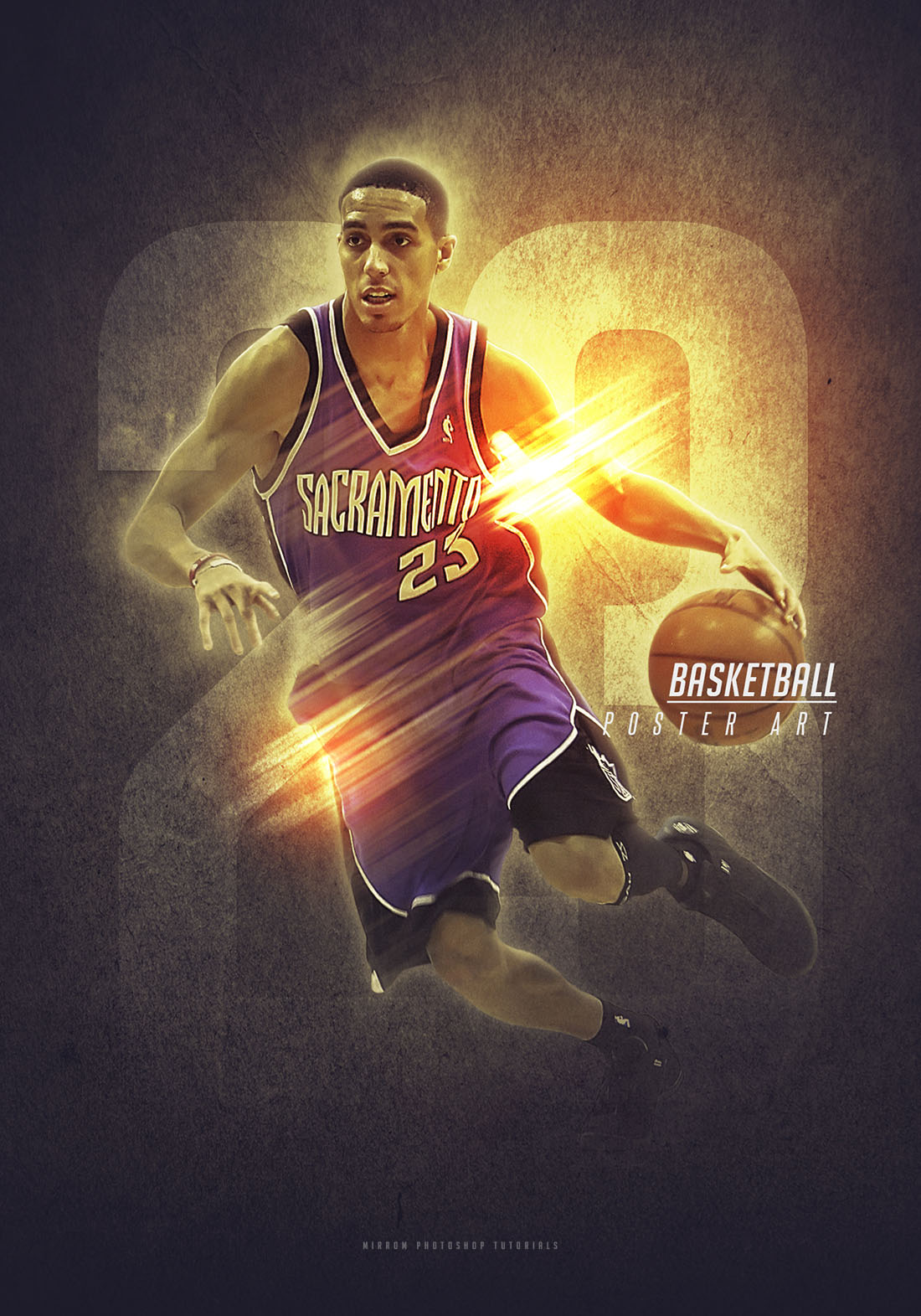 Create a Basketball Sport Poster in Photoshop CC
