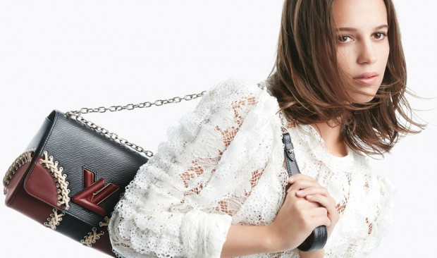 Louis Vuitton The Twist Handbag Campaign stars Alicia Vikander