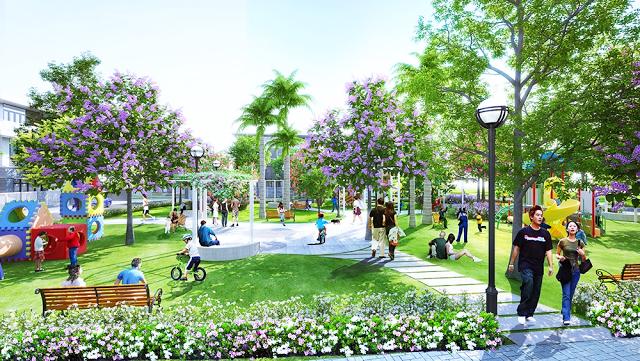 Không gian xanh khu đô thị Phúc Hưng