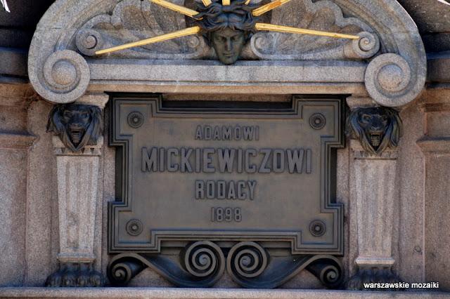 Warszawa Warsaw monument rzeźba Mickiewicz