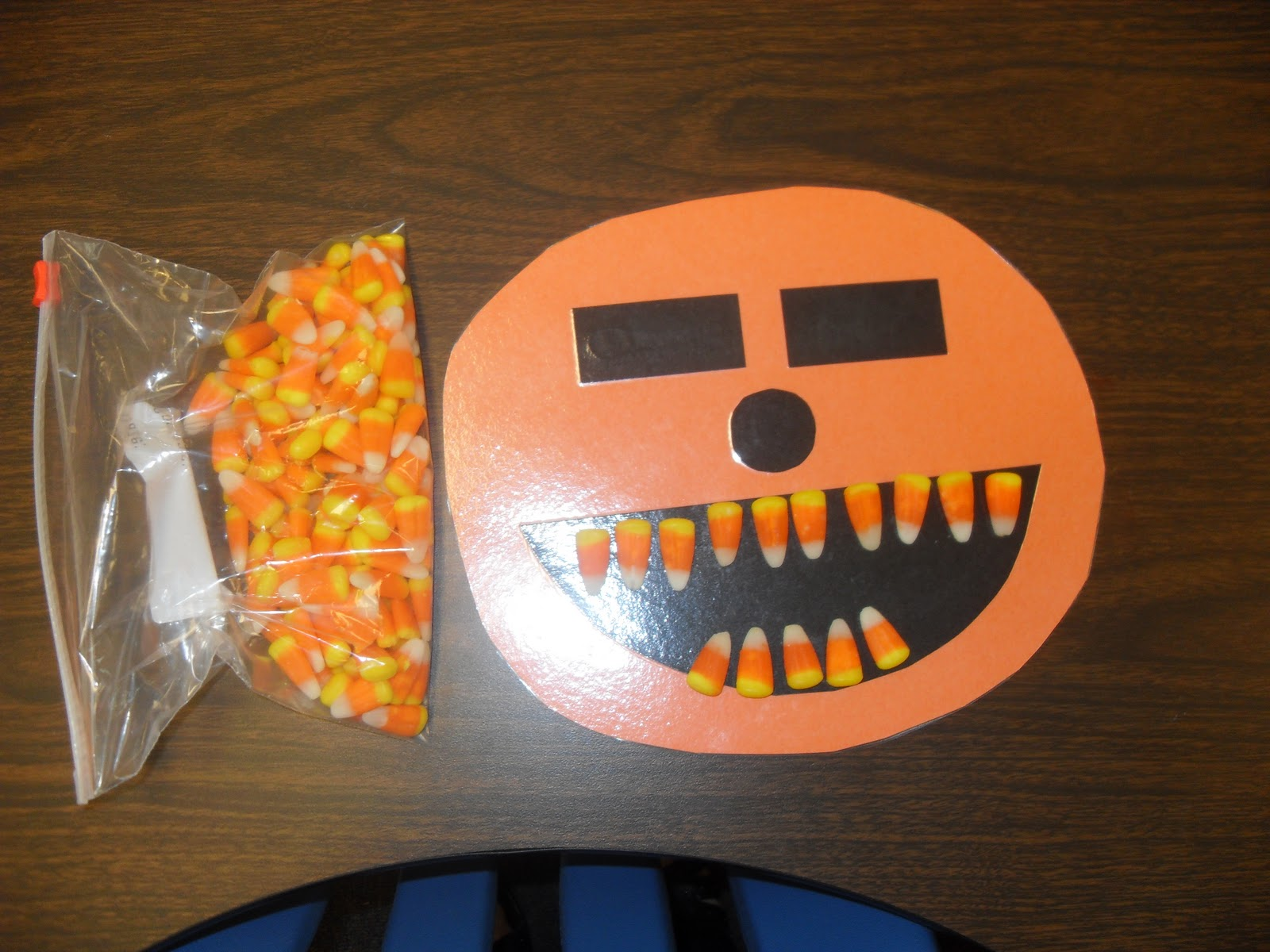 Candy Corn Teeth Math Facts