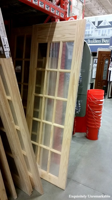 Unpainted French Door On Home Depot Sales Floor