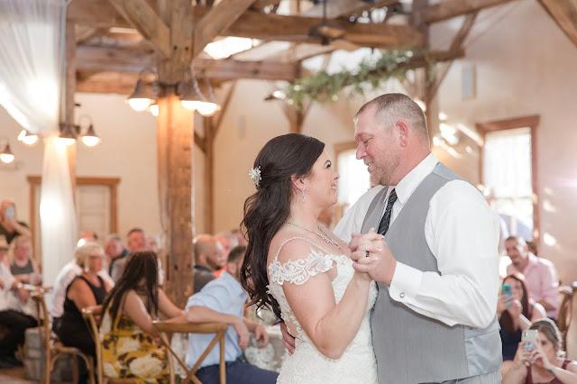 First Dance at reception at Shenandoah Mill by Micah Carling Photography