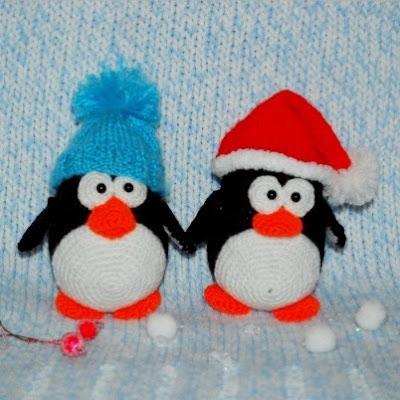 Вязаные пингвины амигуруми