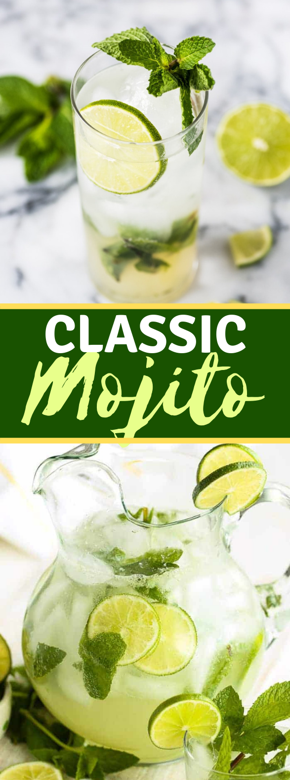 Classic Mojito Recipe #drinks #rum
