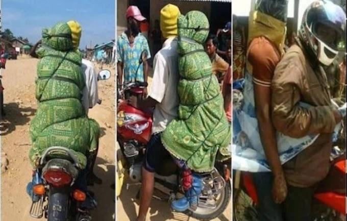 DINEGARA CONGO ADA PERKHIDMATAN BAWA MAYAT DENGAN MOTORSIKAL