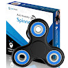 The Anti-Anxiety 360 Spinner Helps Focusing Fidget Toy [3D Figit] Tri-Spinner EDC Focus Toy for Kids & Adults - Best Stress Reducer Relieves ADHD Anxiety Boredom Metal Bearing (Blue)