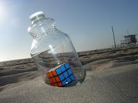 Cubo di Rubik in bottiglia
