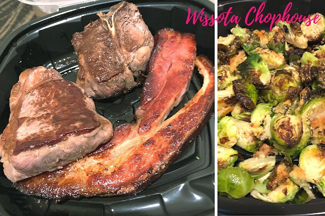Mixed Grill and Parmesan Crusted Brussels Sprouts make for a fantastic dinner at Wissota.