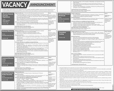 Public Sector Organization Jobs 2019 | P.O Box 2553 GPO Islamabad